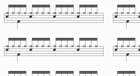 drum sheet music screenshot