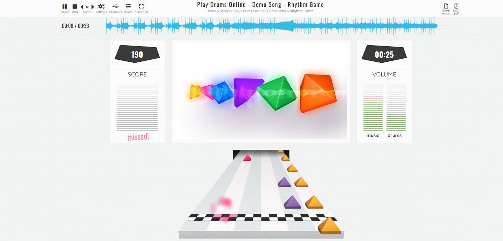 screenshot play rhythm game