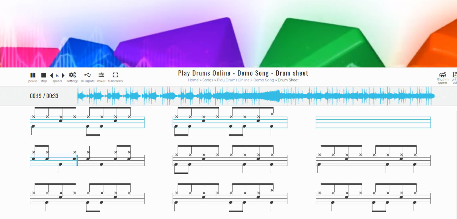 Play Drums Online - 0nline rhythm game