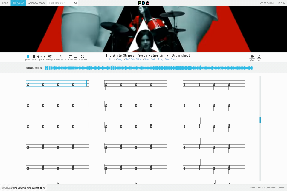 The White Stripes - Seven Nation Army | sheet music • Play